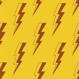Thunder Lighting. Seamless vector pattern. Stock Photo