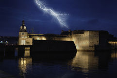 Thunder and Lightning. Summer Thunderstorm is comin up Royalty Free Stock Photography