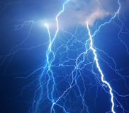 Thunder and lightning royalty free stock photo