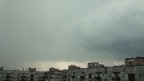 Thunder and lightning over the city stock footage