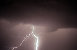 Thunder, lightnings and rain Royalty Free Stock Images