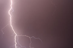 Thunder, lightnings and rain Royalty Free Stock Images