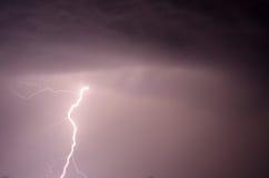 Thunder, lightnings and rain Stock Images