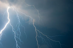 Thunder, lightnings and storm. Heavy clouds bringing thunder, lightnings and storm Stock Photography