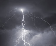 Thunder, lightnings and storm. Royalty Free Stock Photos