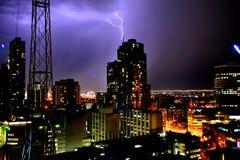 Thunder in modern city Stock Image