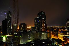 Thunder in modern city Stock Photos