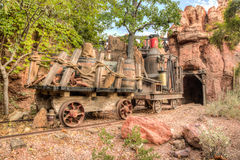 Thunder Mountain Ride in Frontier Land Royalty Free Stock Image