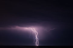Thunder on the night. Tragedy in the storms and flash of the sword Stock Photography