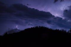 Thunder over the mountain stock photo
