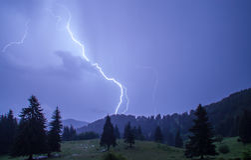 Thunder over the mountain Royalty Free Stock Photos