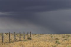 Thunder on the plains. Severe thunderstorm that dropped hail in eastern Colorado Royalty Free Stock Photo