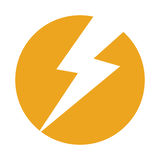 Thunder ray isolated icon. Vector illustration design Royalty Free Stock Image