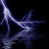 Thunder on sea Stock Image