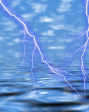 Thunder on sea Stock Photo
