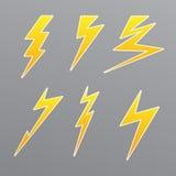 Thunder set icon Stock Image