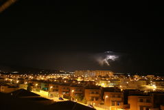 Thunder-storm πέρα από την Αλμερία Στοκ Φωτογραφία