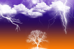 Thunder storm Royalty Free Stock Image