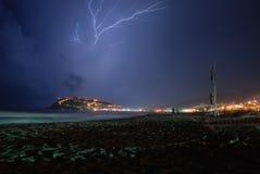Thunder-storm. In Alanya - city of Turkey Royalty Free Stock Image