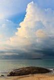 Thunder storm approaching the beach Stock Photos