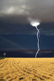 The thunder-storm begins. The thunder-storm in a countryside in state of Montana begins stock photo