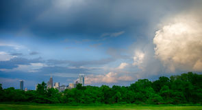 Thunder storm clouds over charlotte Royalty Free Stock Images