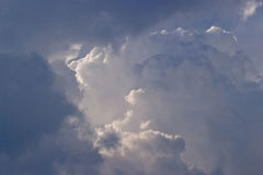 Thunder Storm Clouds. Clouds of a thunder storm, with sunlight breaking through Royalty Free Stock Image
