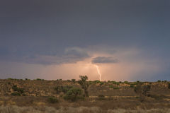 Thunder storm. In Kgalagadi Transfrontier Park Royalty Free Stock Photos