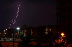 Thunder storm lighting Stock Images