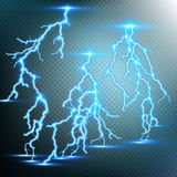 Thunder-storm and lightnings. EPS 10 Stock Images
