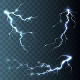 Thunder-storm and lightnings Stock Images