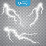Thunder-storm and lightnings Stock Photography