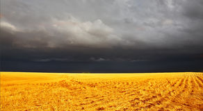 The thunder-storm in  Montana begins. The thunder-storm in a countryside in state of Montana begins Royalty Free Stock Image