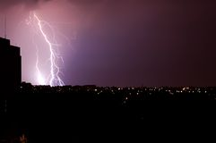 Thunder-storm over a city Royalty Free Stock Images