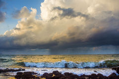 Thunder-storm over the sea Stock Photo