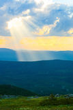 Thunder-storm and rain in mountains Royalty Free Stock Photos