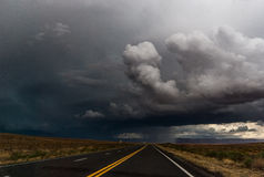 Thunder storm road Royalty Free Stock Photo