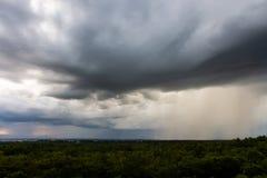 thunder storm sky Rain clouds royalty free stock photos