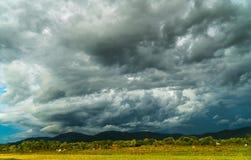 thunder storm sky Rain clouds stock image