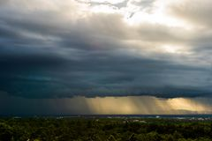 thunder storm sky Rain clouds royalty free stock image
