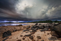 Thunder storm in the tropical sea Royalty Free Stock Photography