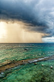 The thunder storms in Lapu Lapu city. The thunder storms on the sea of the Lapu-Lapu City, Philippines Royalty Free Stock Photos