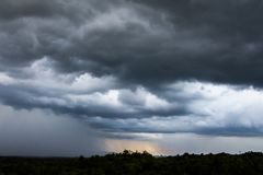 thunder strom sky Rain clouds. Royalty Free Stock Images