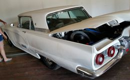 Thunderbird branco clássico Fotografia de Stock Royalty Free