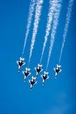 thunderbird för 16 f-kämpestrålar Arkivbilder
