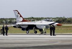 Thunderbird-Flugzeuge Stockfotografie