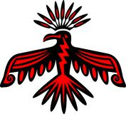 Thunderbird - símbolo del nativo americano Imagen de archivo