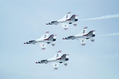 Thunderbird Jets Aerobatic Royalty Free Stock Image
