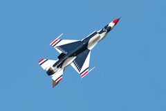 Thunderbird plane in an air show Royalty Free Stock Photos