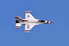 Thunderbird plane in an air show Royalty Free Stock Photography
